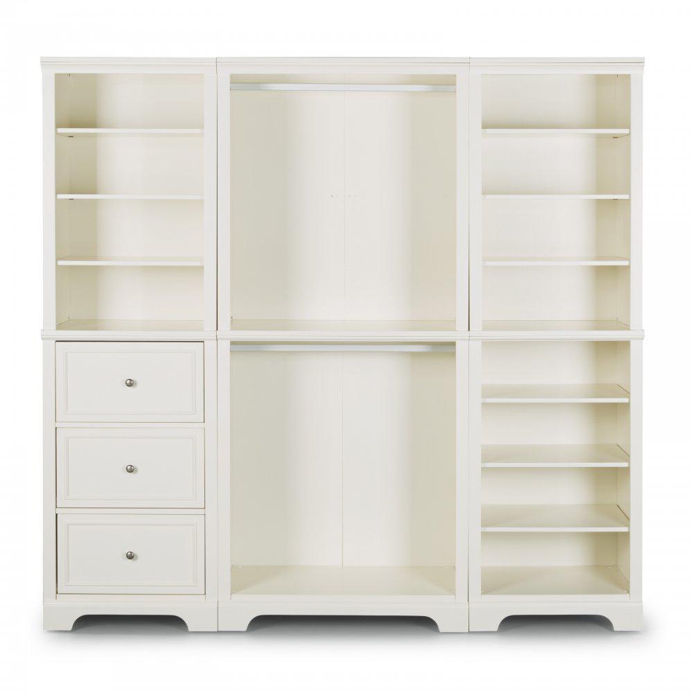 Home Styles Naples 3-Piece Closet Organizer in White