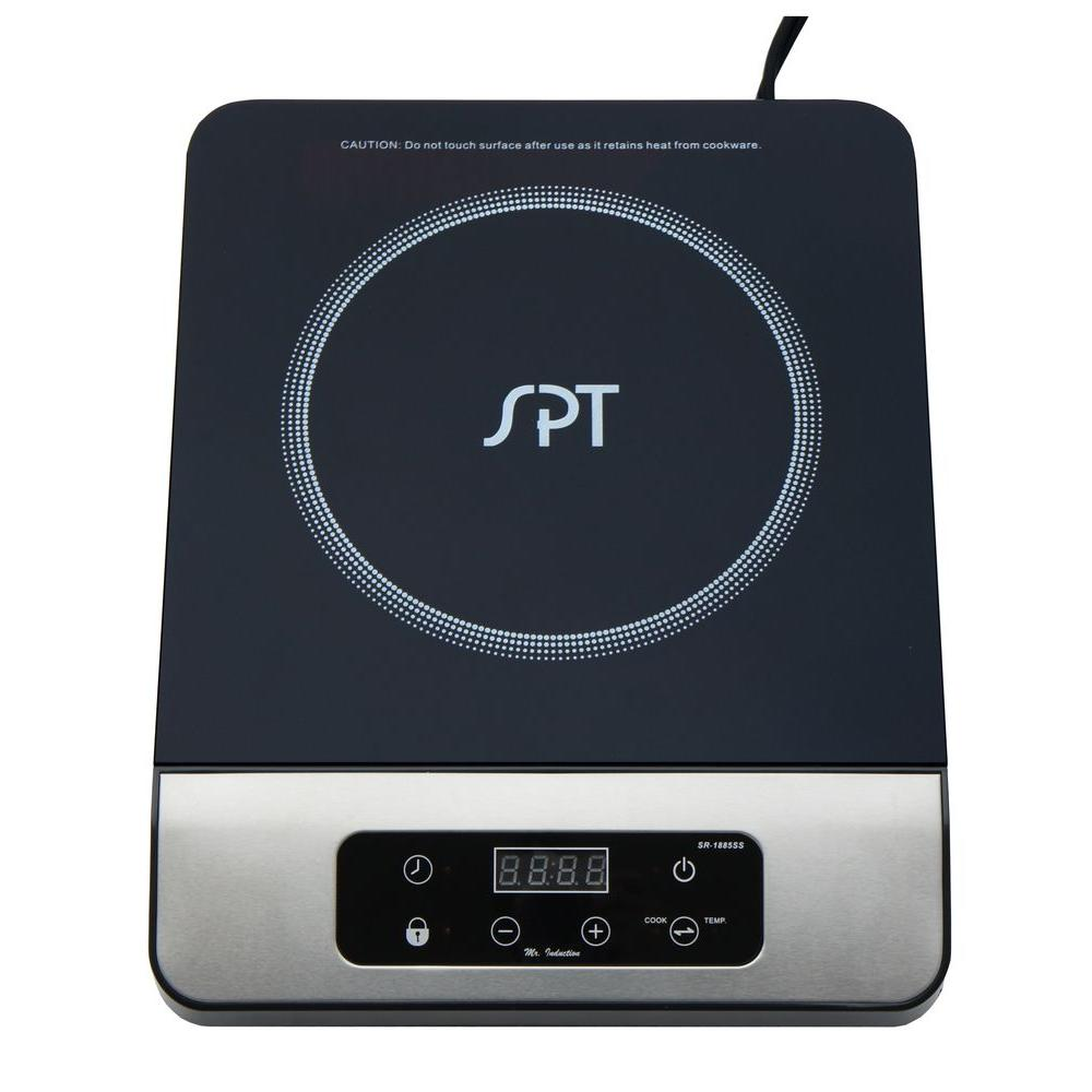 SPT 11 in. 1650 Watt Induction Cooktop in Stainless Steel with 13 Power Settings and 1 Element