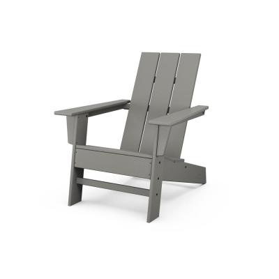 Grant Park Grey Modern Plastic Outdoor Patio Adirondack Chair