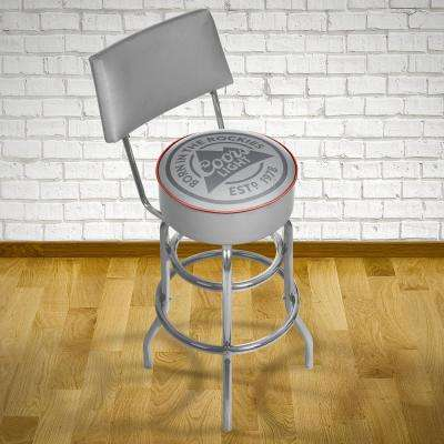 Coors Light 30 in. Chrome Padded Swivel Bar Stool