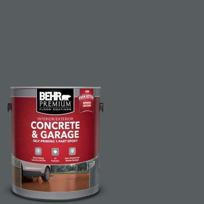 1 gal. #N500-6 Graphic Charcoal Self-Priming 1-Part Epoxy Satin Interior/Exterior Concrete and Garage Floor Paint