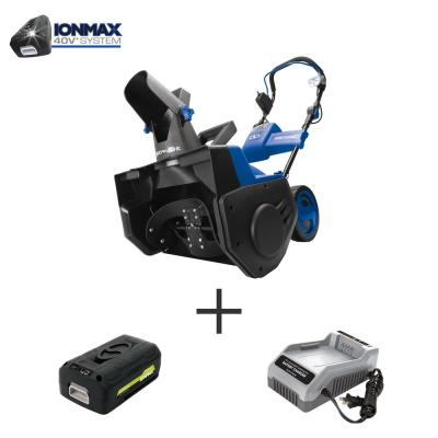 21 in. 40-Volt Single-Stage Cordless Electric Snow Blower Kit with 5.0 Ah Battery + Charger