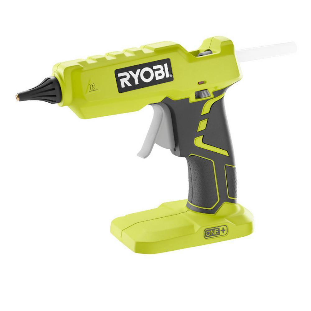 Ryobi 18-Volt ONE+ Cordless Full Size Glue Gun (Tool-Only) with 3 General Purpose Glue Sticks