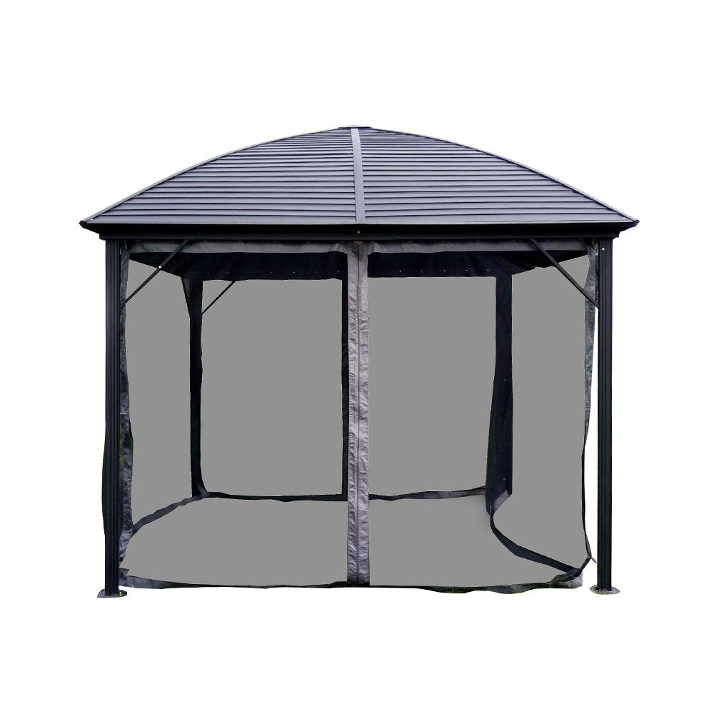 ALEKO 10 ft. x 10 ft. Aluminum Hardtop Gazebo in Black
