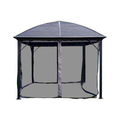 10 ft. x 10 ft. Aluminum Hardtop Gazebo in Black