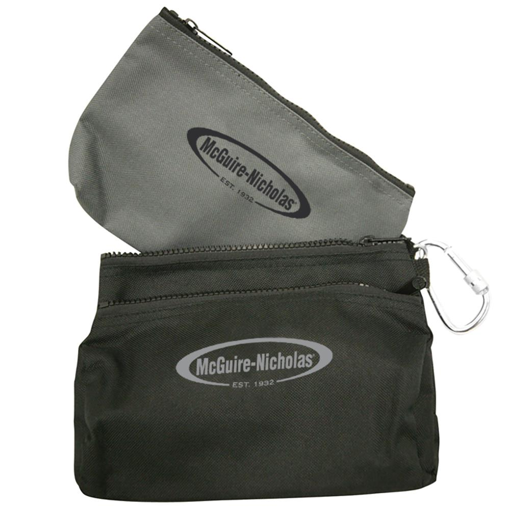 McGuire-Nicholas 11.5 in. Polyester Tool Case in Black and Grey (2-Pack)