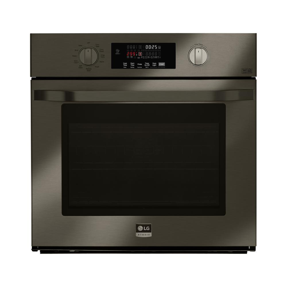 LG STUDIO 29.75 in. Single Electric Wall Oven with Self Cleaning in Black Stainless Steel LG STUDIO 29.75 in. Single Electric Wall Oven with Self Cleaning in Black Stainless Steel