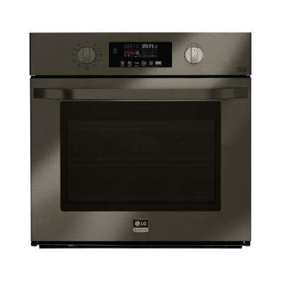 29.75 in. Single Electric Wall Oven with Self Cleaning in Black Stainless Steel
