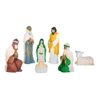Nativity Blow Mold Set with C7 Light (7-Piece)