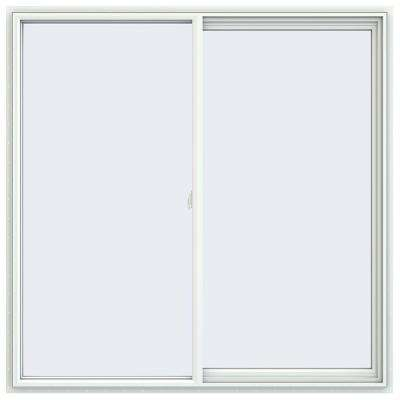 59.5 in. x 59.5 in. V-2500 Series White Vinyl Right-Handed Sliding Window with Fiberglass Mesh Screen