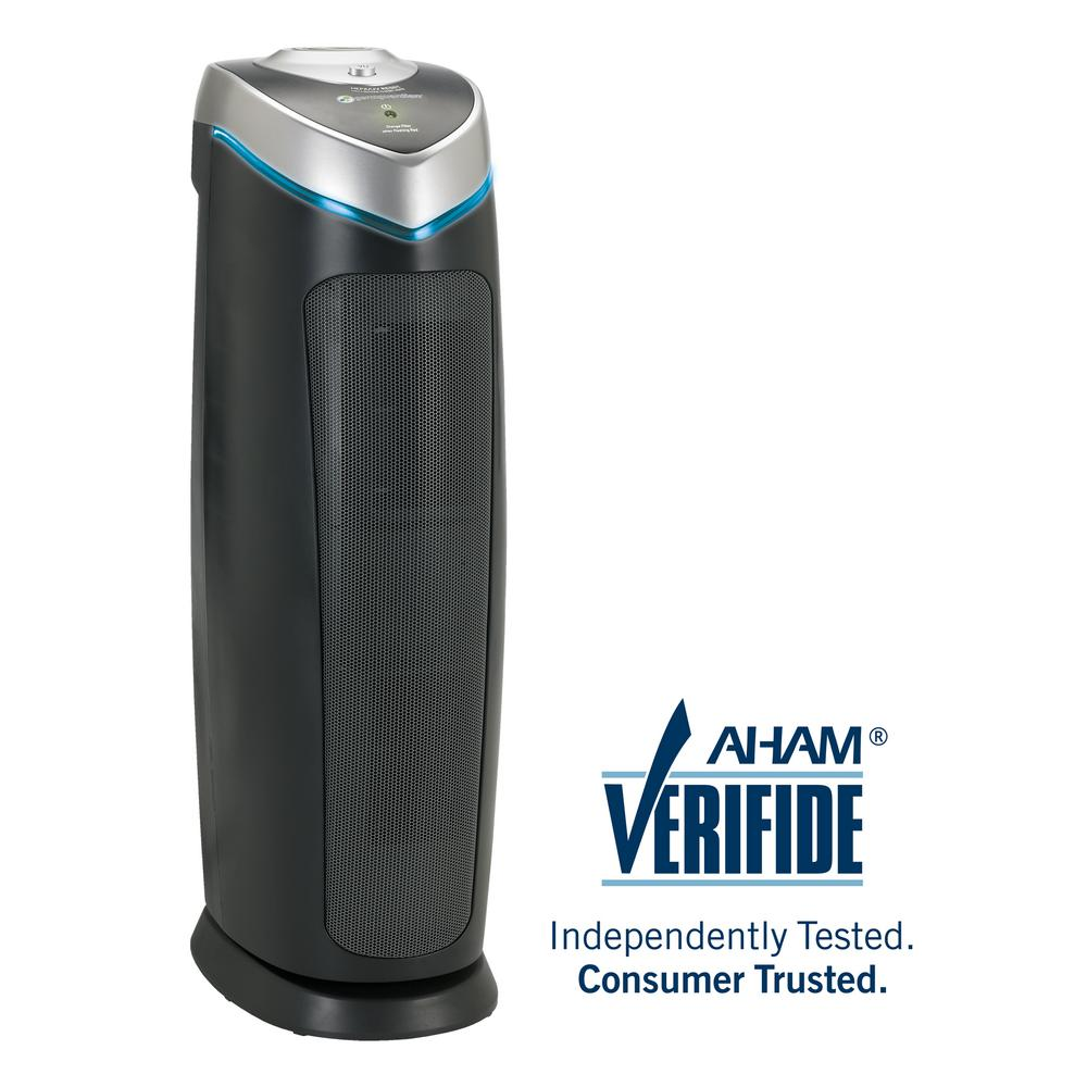 4-in-1 Air Purifier with HEPA Filter, UVC Sanitizer and Odor Reduction,