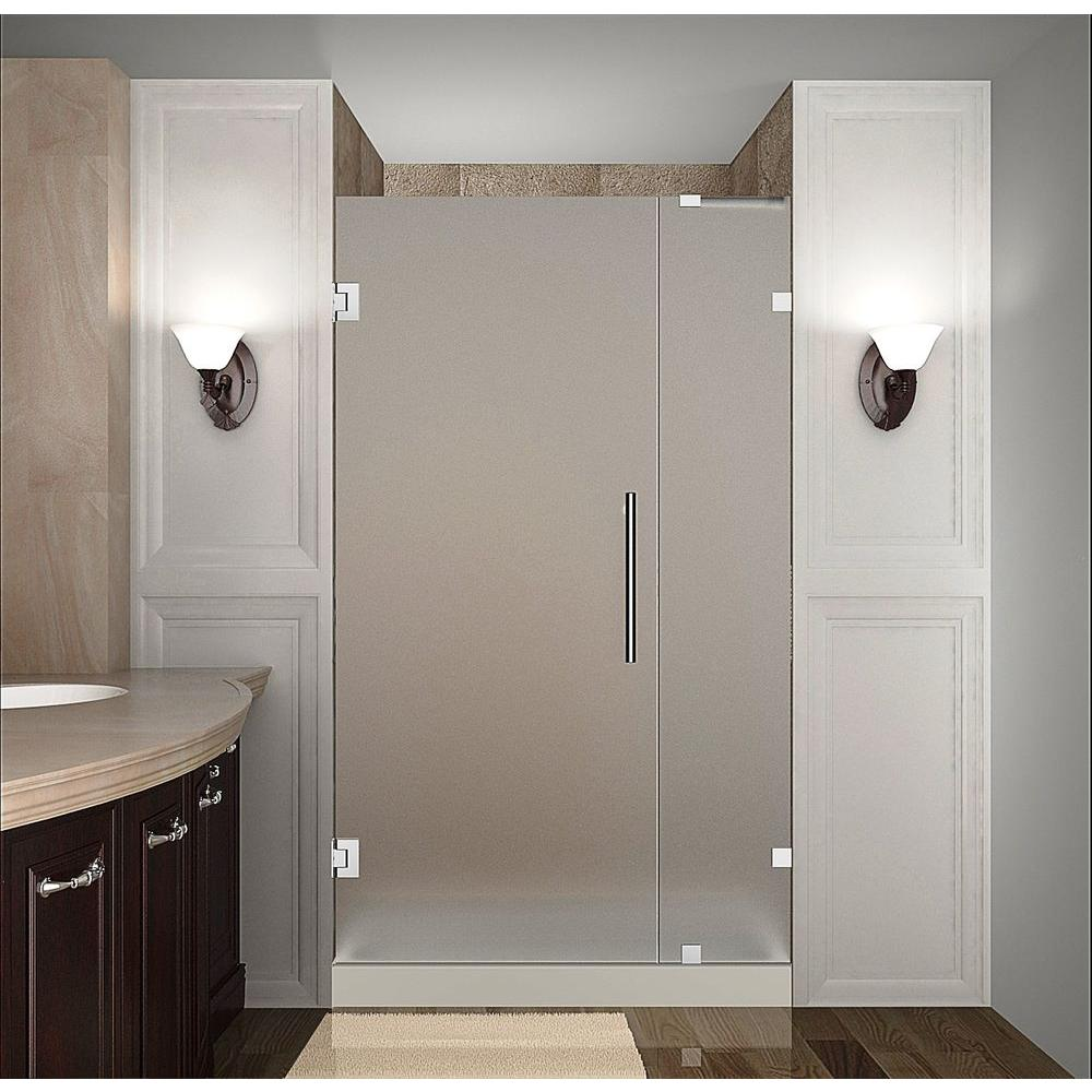 Nautis 32 in. x 72 in. Completely Frameless Hinged Shower Door
