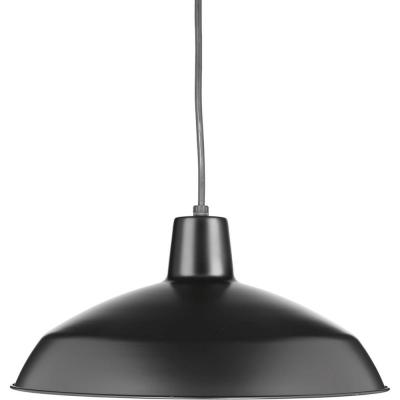 Metal Shade Collection 1-light Black Pendant