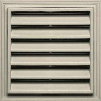 12 in. x 12 in. Square Gable Vent in Champagne