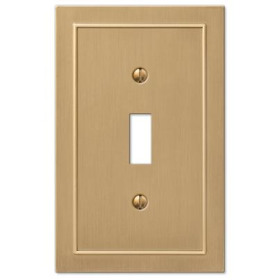 Bethany 1 Gang Toggle Metal Wall Plate - Brushed Bronze