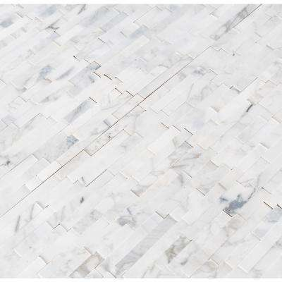 Calacatta Marbella Peel and Stick 12 in. x 12 in. x 6 mm Honed Marble Mosaic Tile (1 sq. ft.)