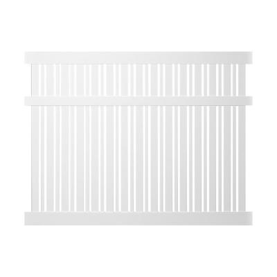 Davenport 6 ft. H x 8 ft. W White Vinyl Semi-Privacy Fence Panel Kit