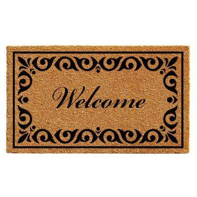 Breaux Welcome 24 in. x 36 in. Door Mat