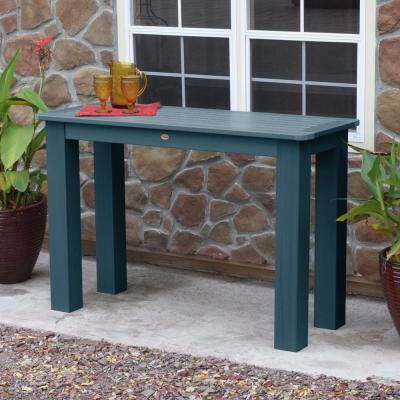 Nantucket Blue Rectangular Recycled Plastic Outdoor Balcony Height Dining Table