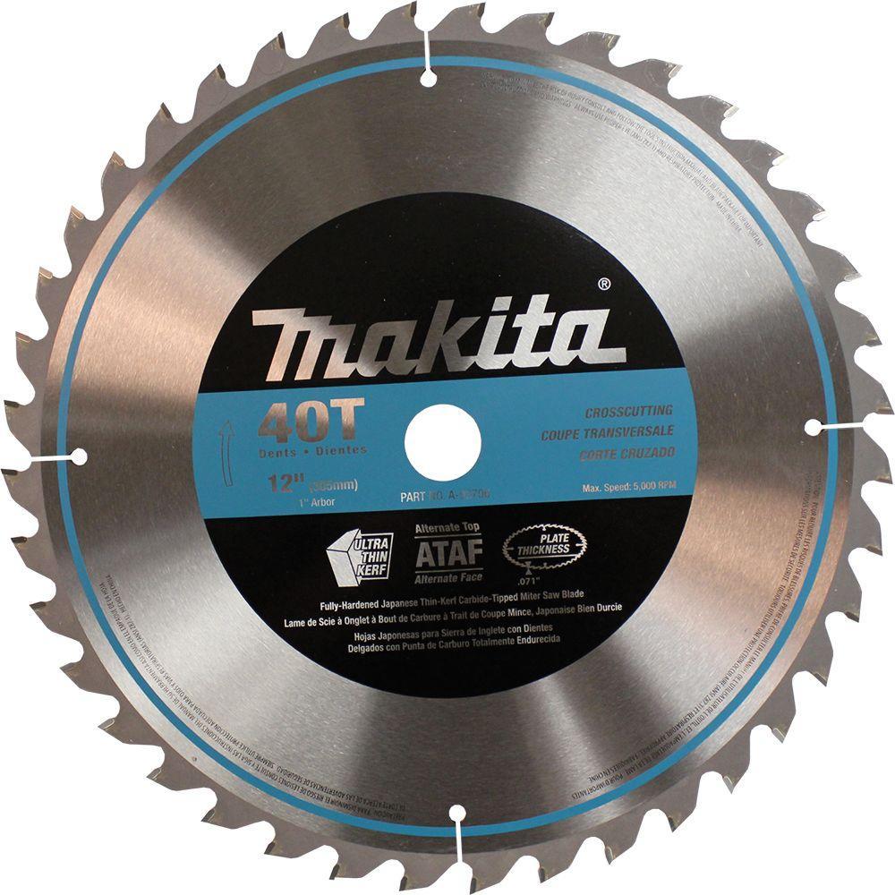 Makita 12 inch x 1 inch 40-Teeth Micro-Polished Miter Saw Blade by Makita
