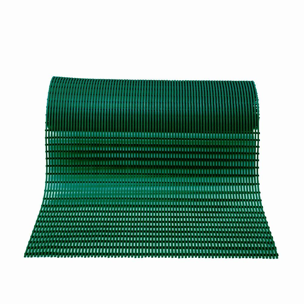 null Barepath Forest Green 2 ft. x 30 ft. PVC Safety and Comfort Rug Runner