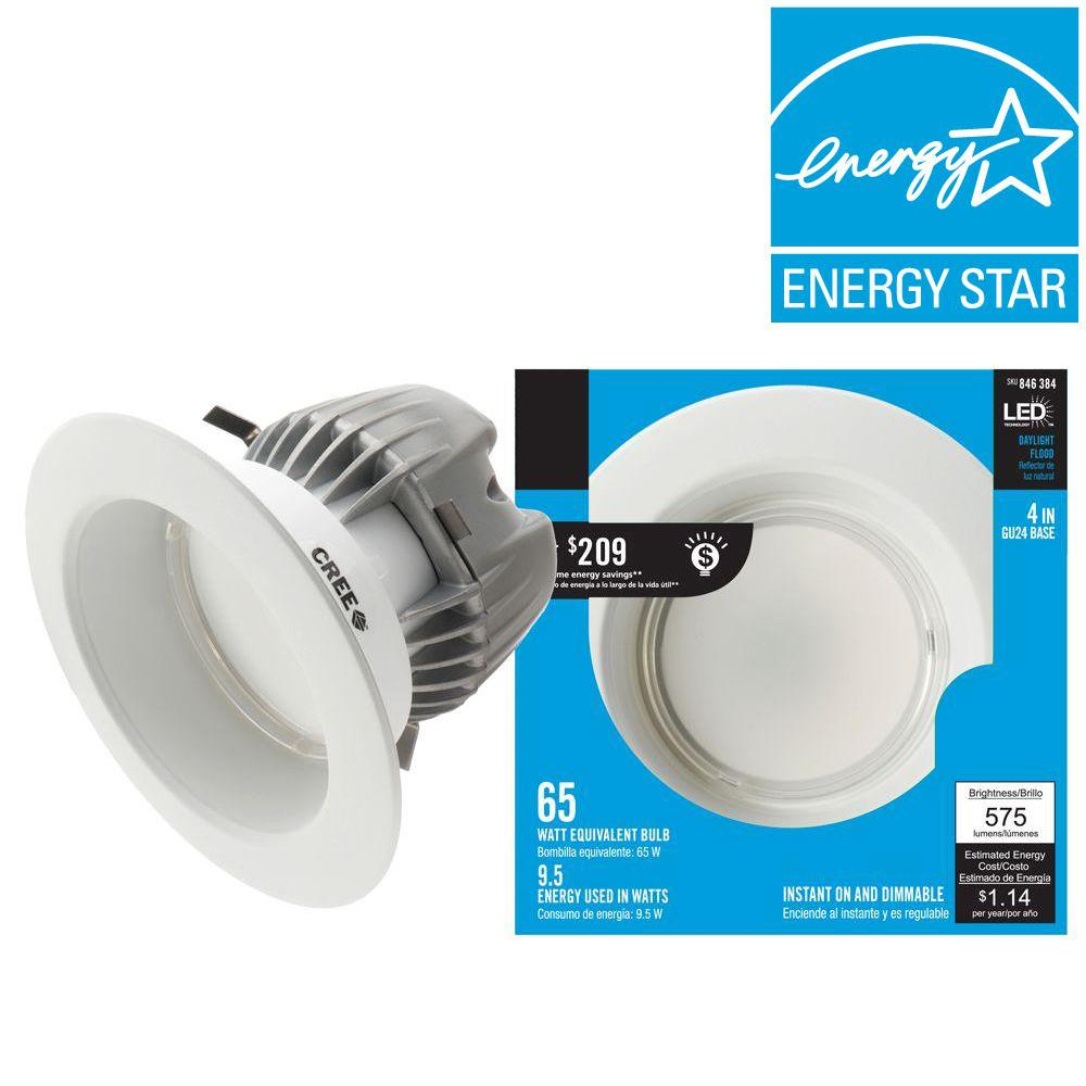 EcoSmart 65W Equivalent Daylight (5000K) 4 in. Dimmable LED Downlight with GU24 Base
