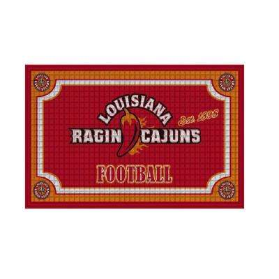 University of Louisiana Cajuns 18 in. x 30 in. Embossed Welcome Mat