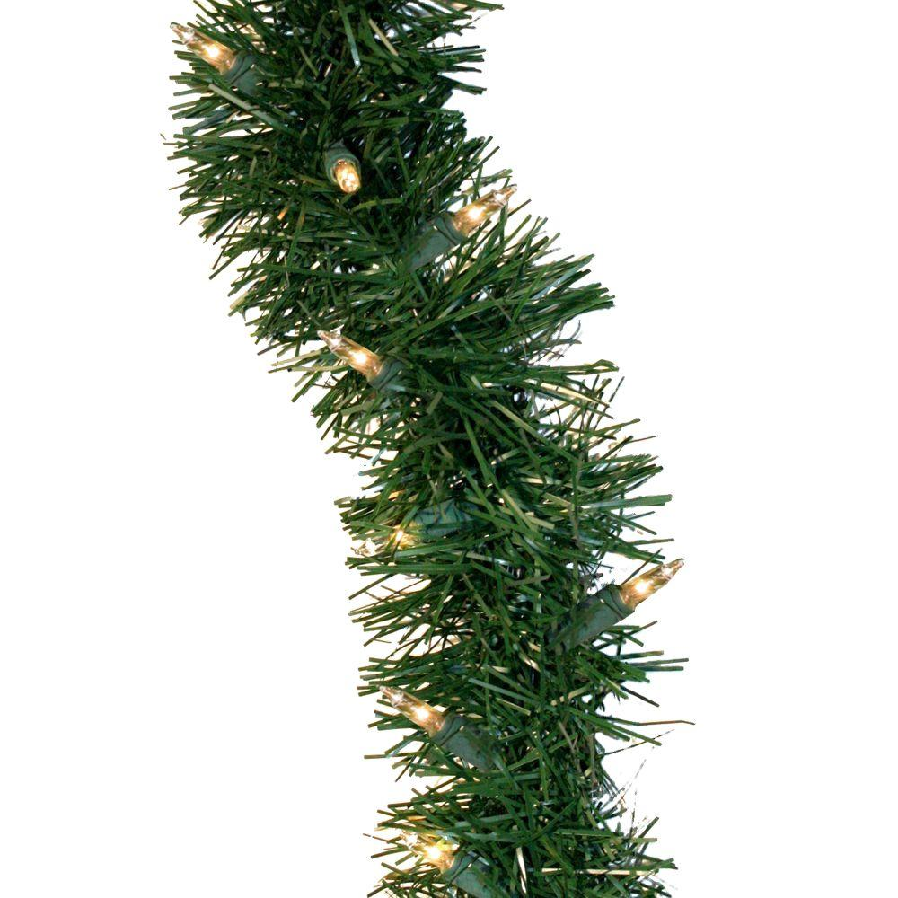 GE 36 Ft Holiday Classics Artificial Garland With 100