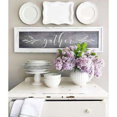 "39.25 in. W x 11.25 in. H ""Gather"" by SMD Printed Framed Wall Art"
