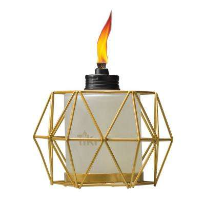5.5 in. Geo Globe Metal Table Torch Gold