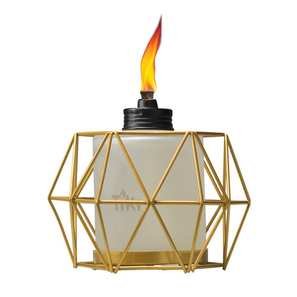 5.5 in. Geo Globe Metal Table Torch Gold