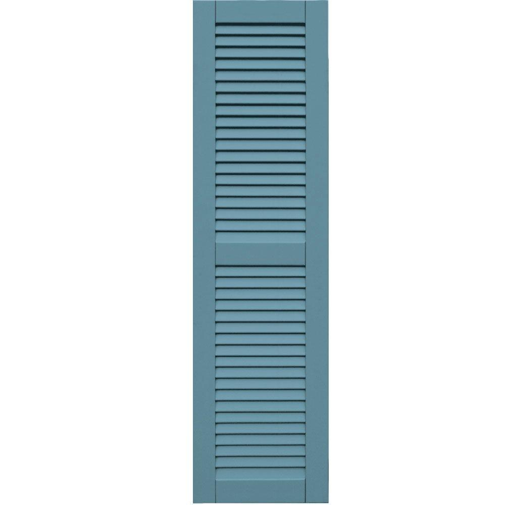 Winworks Wood Composite 15 in. x 56 in. Louvered Shutters Pair #645 Harbor