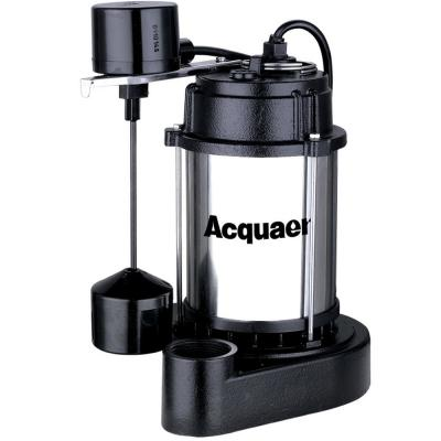 3/4 HP Sump Pump with Stainless Steel Motor Housing Cast Iron Base and Vertical Float Switch