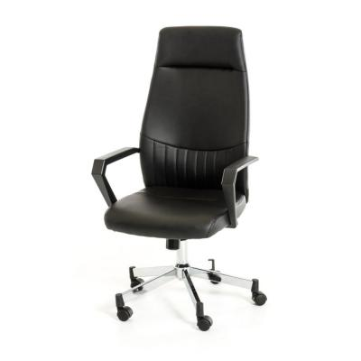 Valerie Black Leatherette Plastic and Steel Office Chair