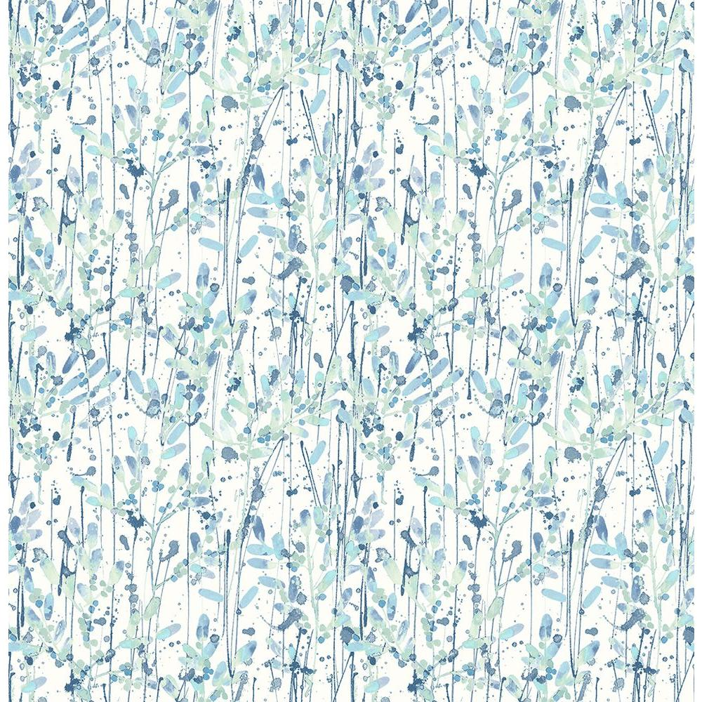 A Street Willow Blue Leaves Wallpaper Sample