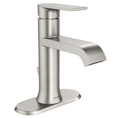 Genta Single Hole Single-Handle Bathroom Faucet in Spot Resist Brushed Nickel