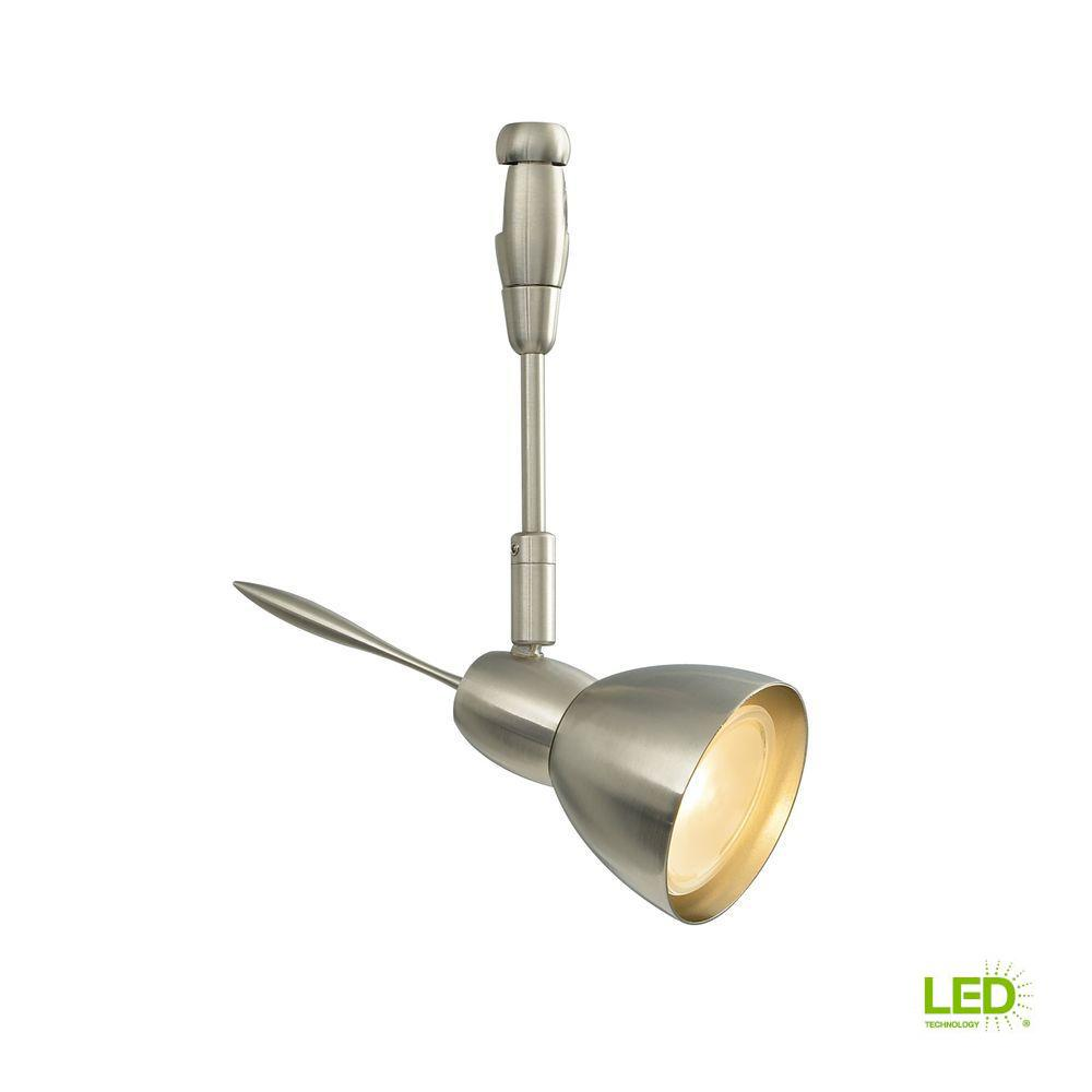 LBL Lighting Vent 1-Light Satin Nickel LED Track Lighting Head Vent 6 in. 1-Light Satin Nickel LED Track Lighting Head easily blends with your home's existing decor. This is a Low-Voltage head. Sleek head with multiple accessory options; rotates 360°, pivots 90°.