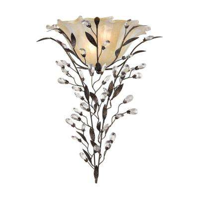 Circeo 2-Light Deep Rust Wall Sconce