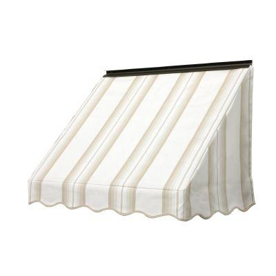 NuImage Awnings 3700 Series 54 in. x 24 in. Fabric Window Awning in Sand Graduated Stripe-DISCONTINUED