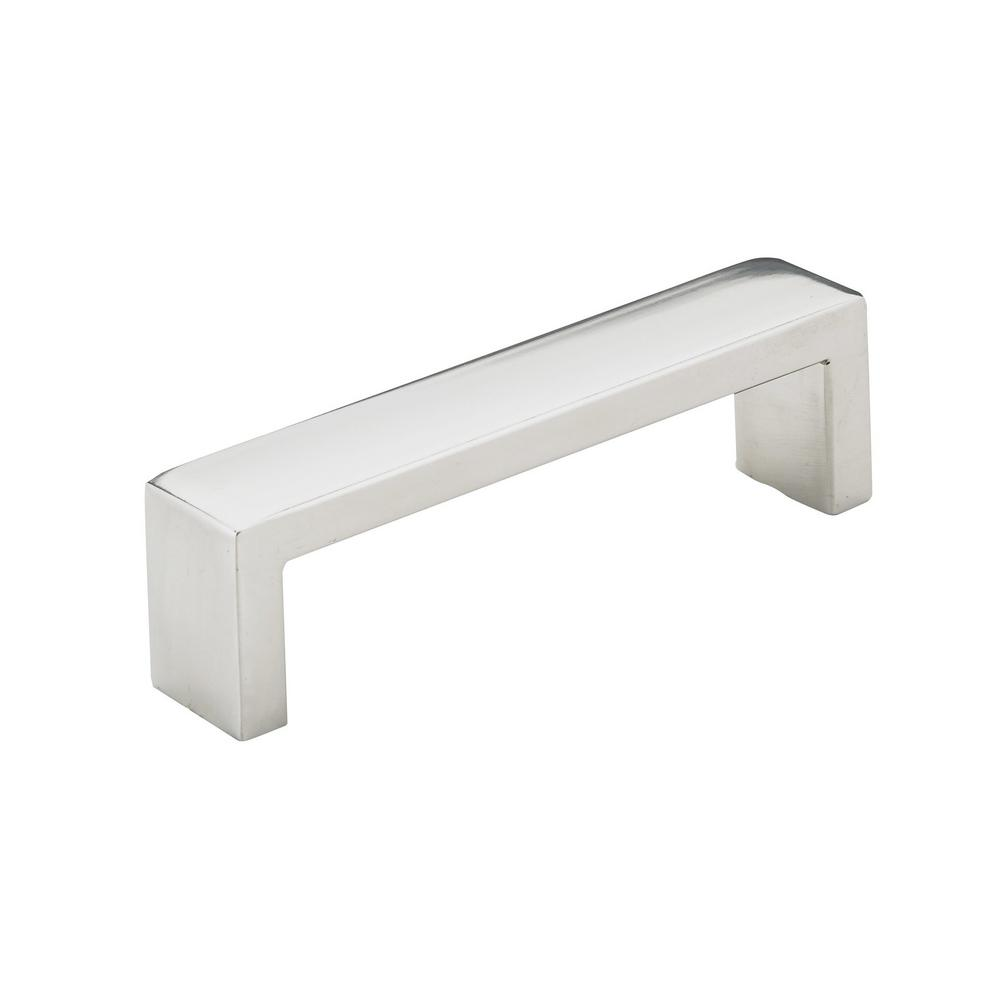Richelieu Hardware 3-3/4 in. (96 mm) Center-to-Center Polished Stainless Steel Contemporary Drawer Pull