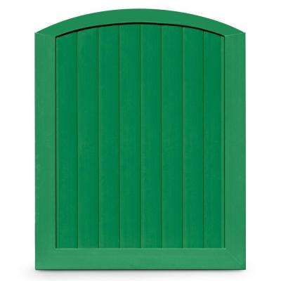 Pro Series 5 ft. W x 6 ft. H Green Vinyl Anaheim Privacy Arched Top Fence Gate