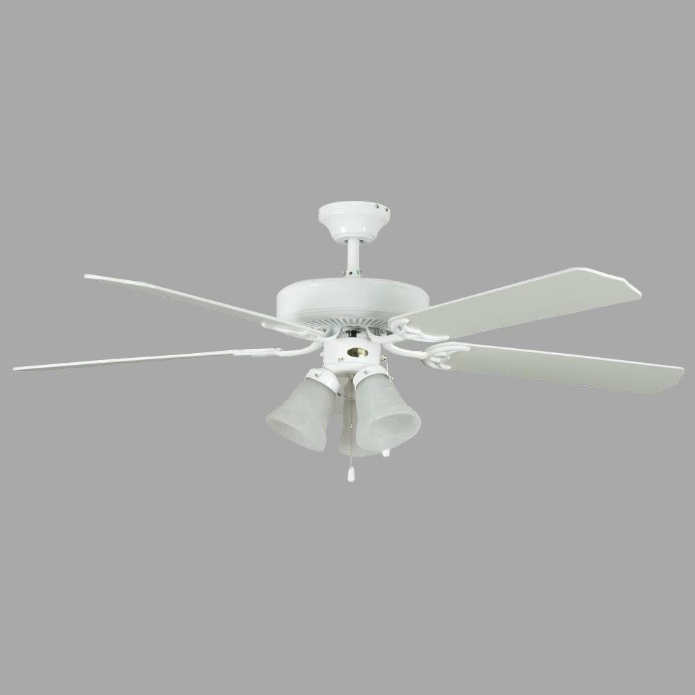 Concord Fans Heritage Home Series 52 in. Indoor White Ceiling Fan
