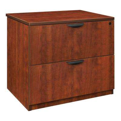 Magons Cherry Lateral File Cabinet