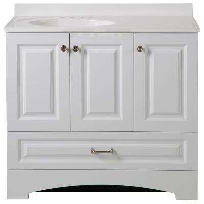 Lancaster 36.5 in. W x 19 in. D Bath Vanity and Vanity Top in White