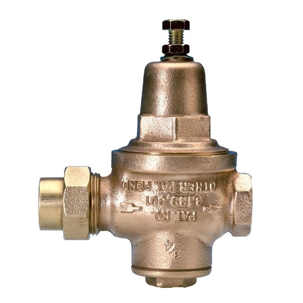 zurn 3 4 in water pressure reducing valve 3 4 in water pressure reducing valve the home depot. Black Bedroom Furniture Sets. Home Design Ideas