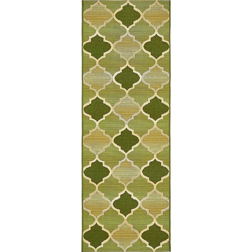 Outdoor Green 2' x 6' Runner Indoor/Outdoor Rug