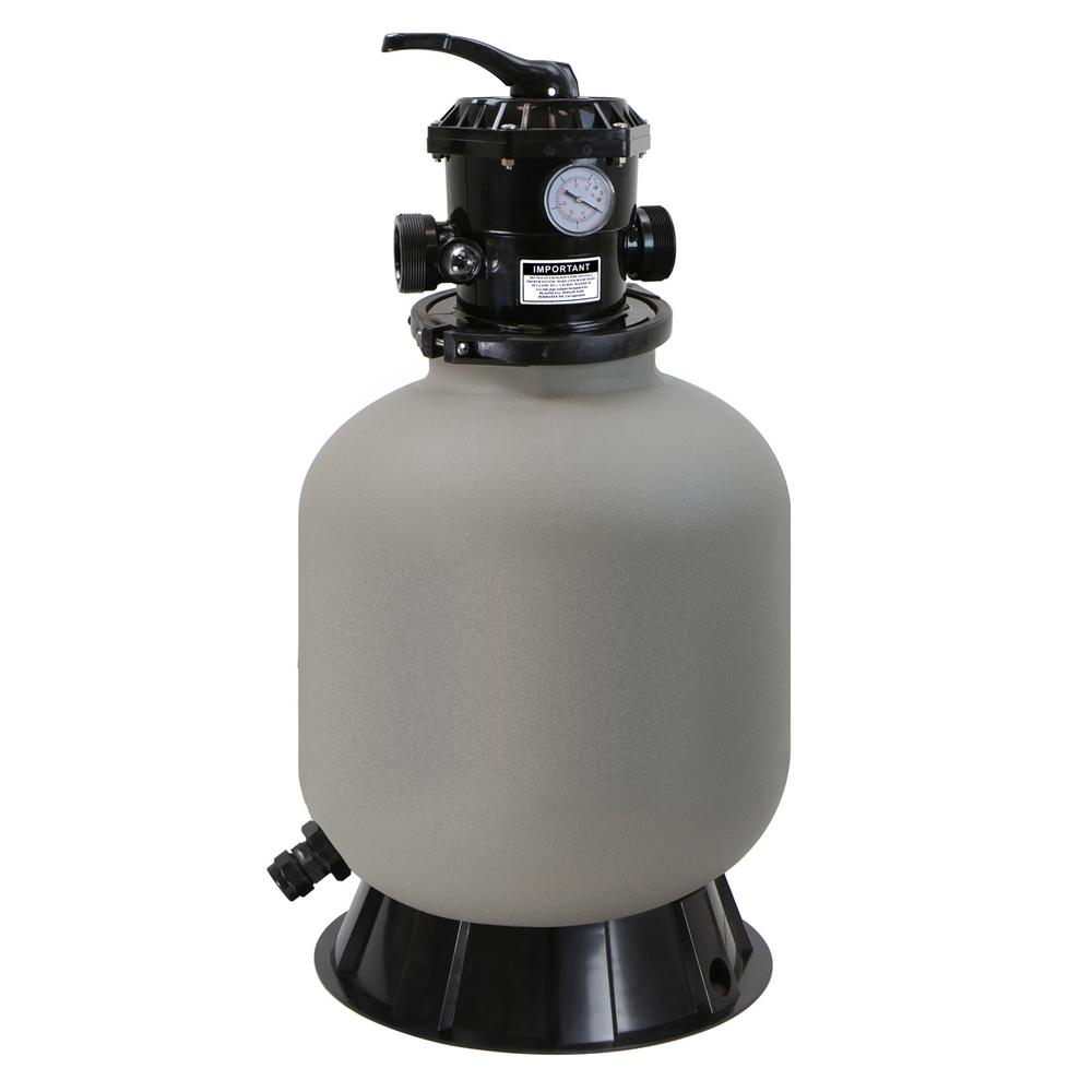 XtremepowerUS 16 in. Swimming Pool Sand Filter System with 7-Way ...