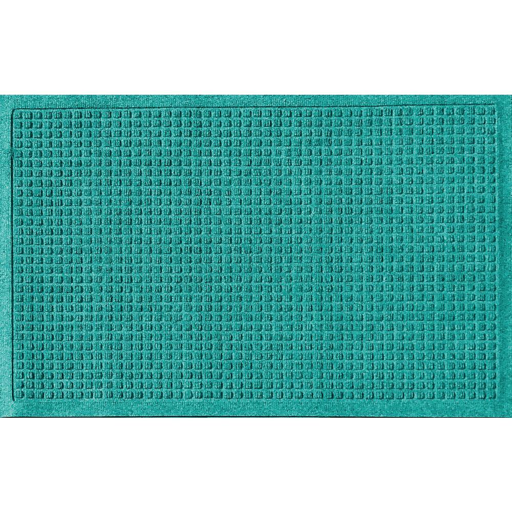 Aquamarine 24 in. x 36 in. Squares Polypropylene Door Mat