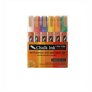 Chalk Markers Classic Multicolor (6 per Pack)