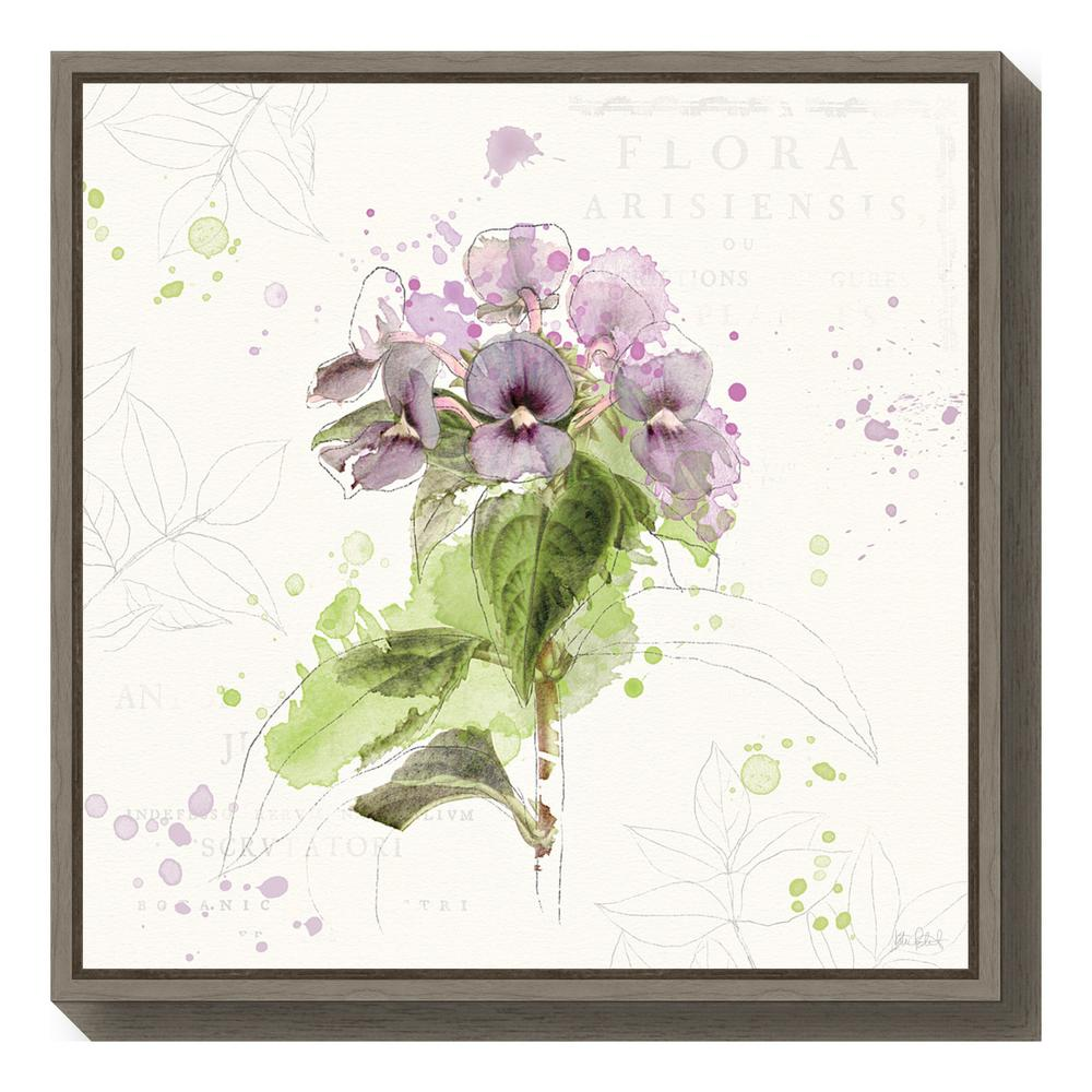 """Floral Splash III"" by Katie Pertiet Framed Canvas Wall Art"